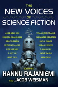 Book cover of the new voices of science fiction