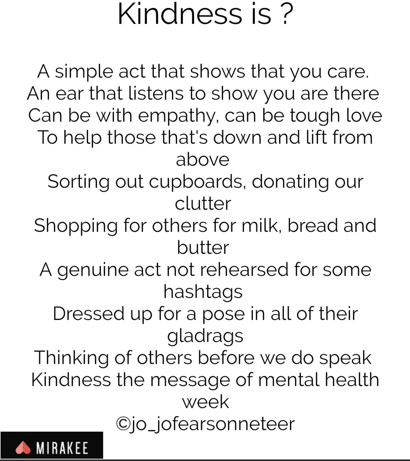 Kindness is by Jo Fearon