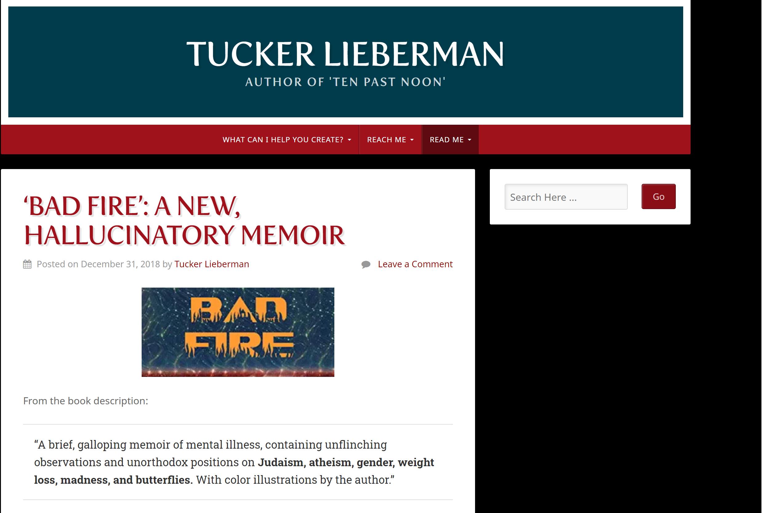 Tucker Liebermann Bad Fire