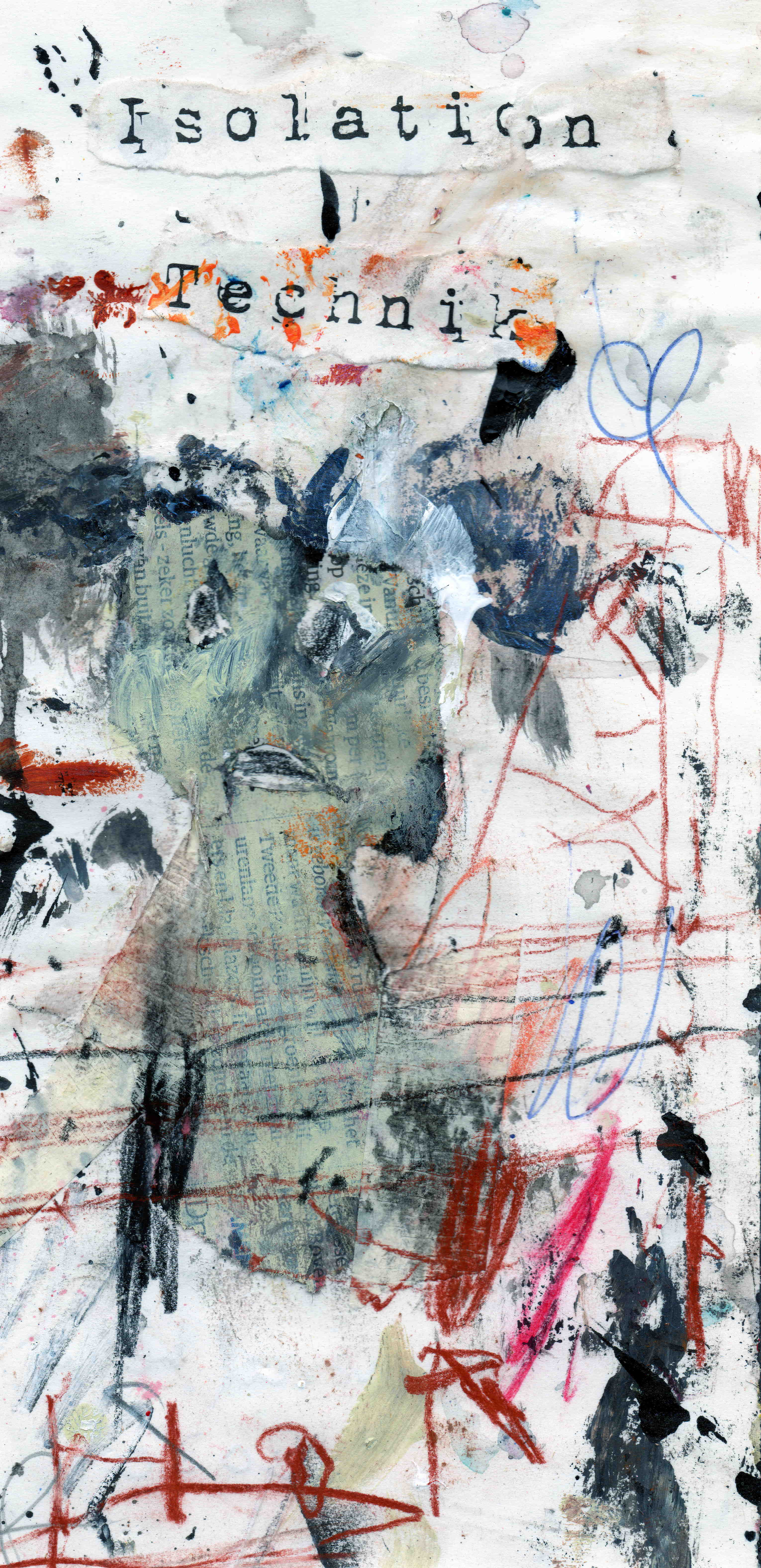 MH27 We never learn, mixed media on paper, 11 x 22,9 cm, 2020