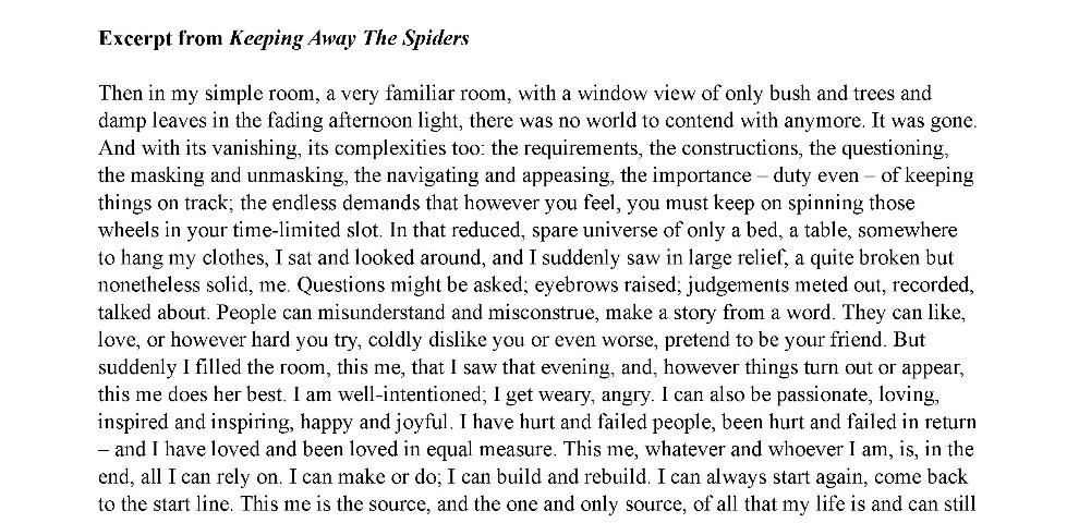 Spiders Excerpt 1