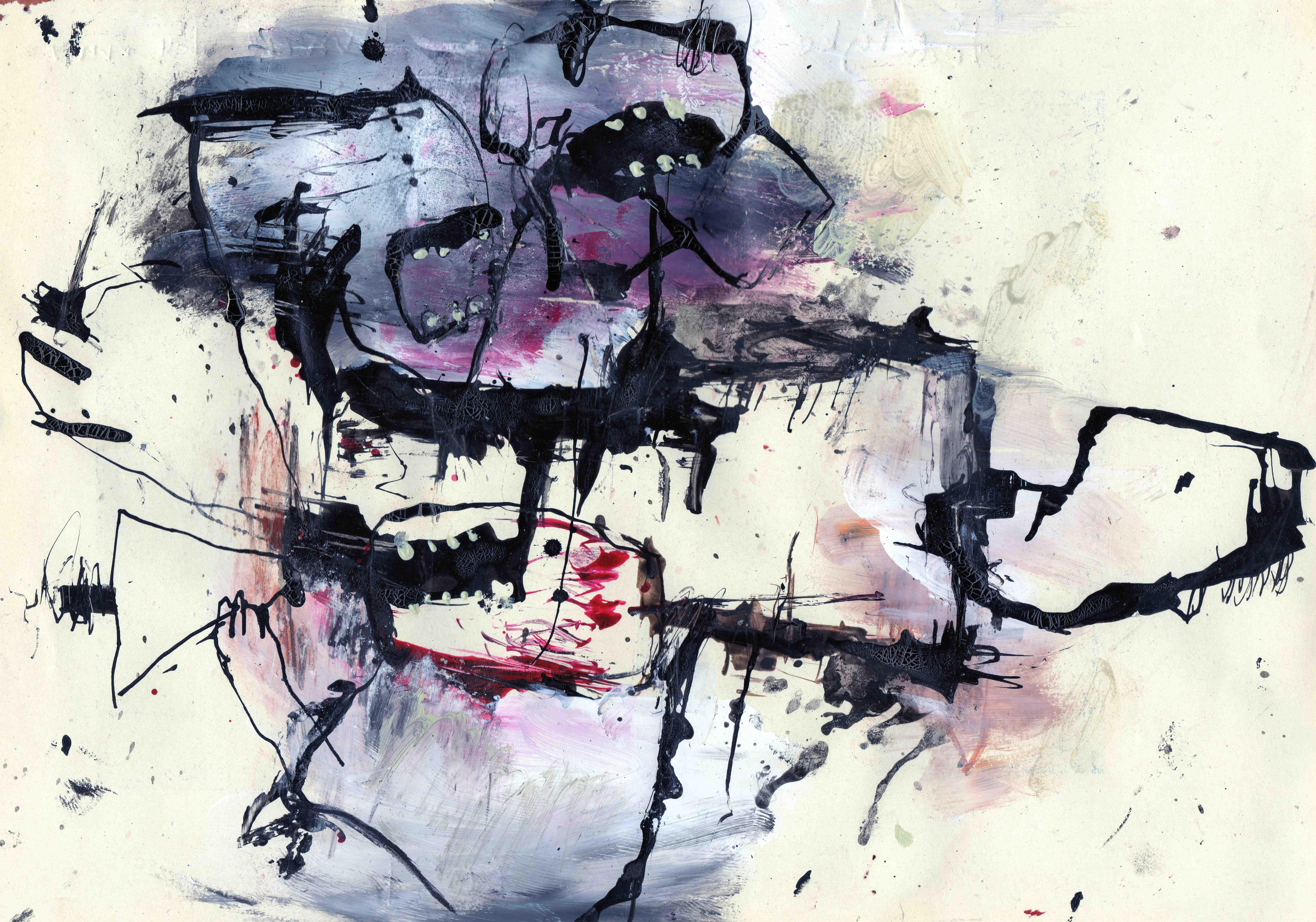 Dodelijke volkswoede, mixed media on paper, 24,5 x 17,4 cm, 2021MH25