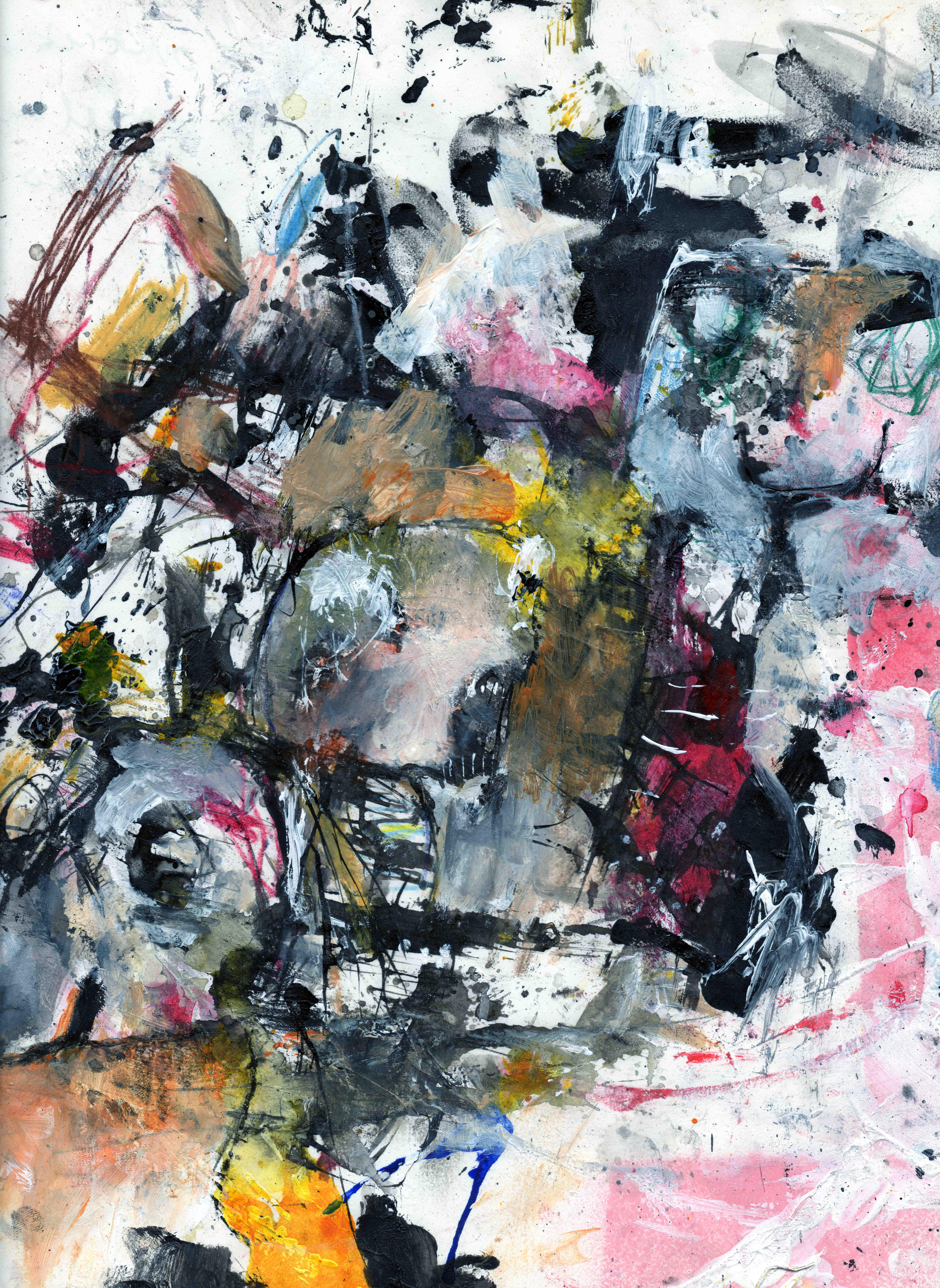 ik onttrek mij, mixed media on paper, 23,7 x 30,3 cm, 2020 MH16