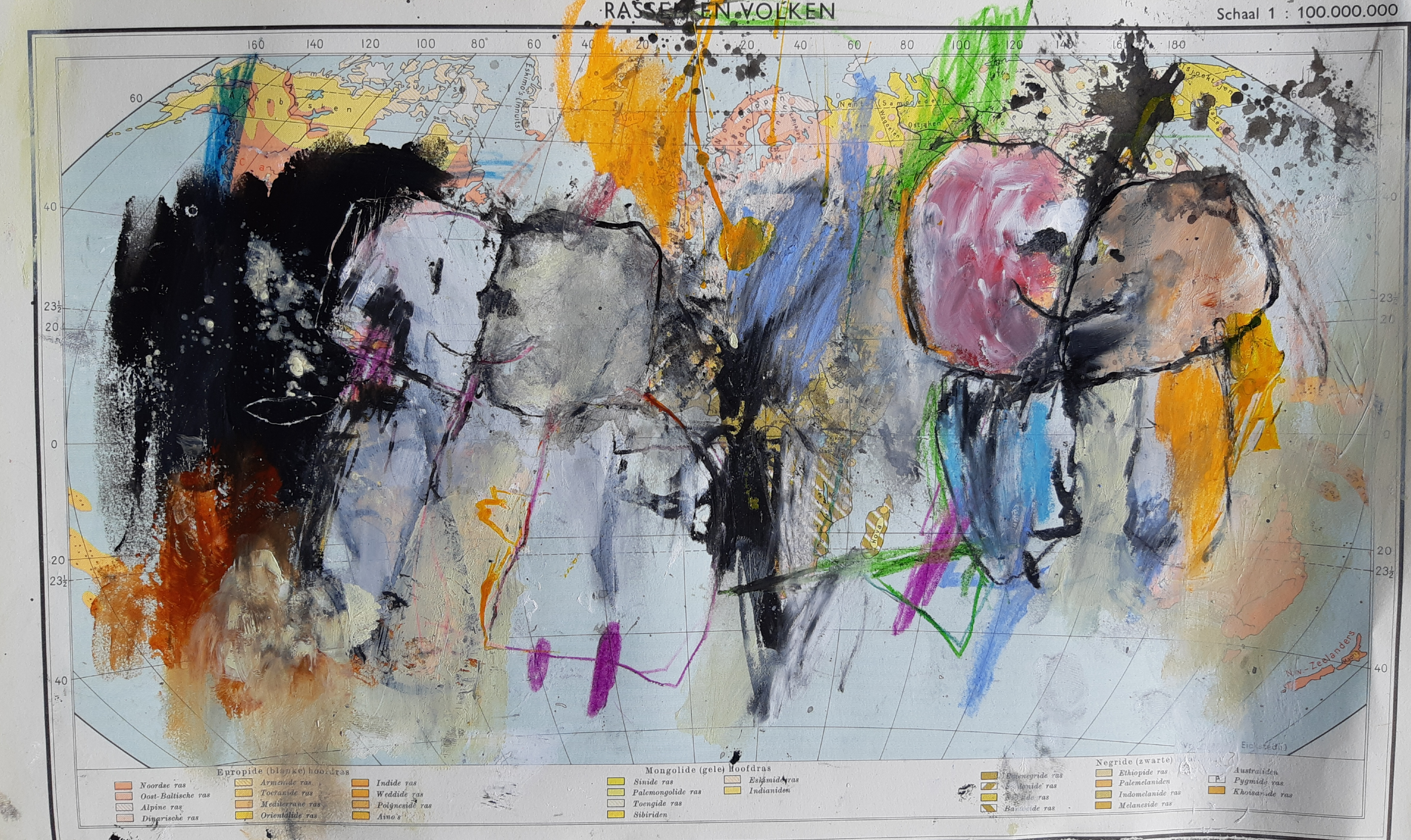 Mix it up, mixed media on paper, 37 x 22,5 cm, 2021 MH30