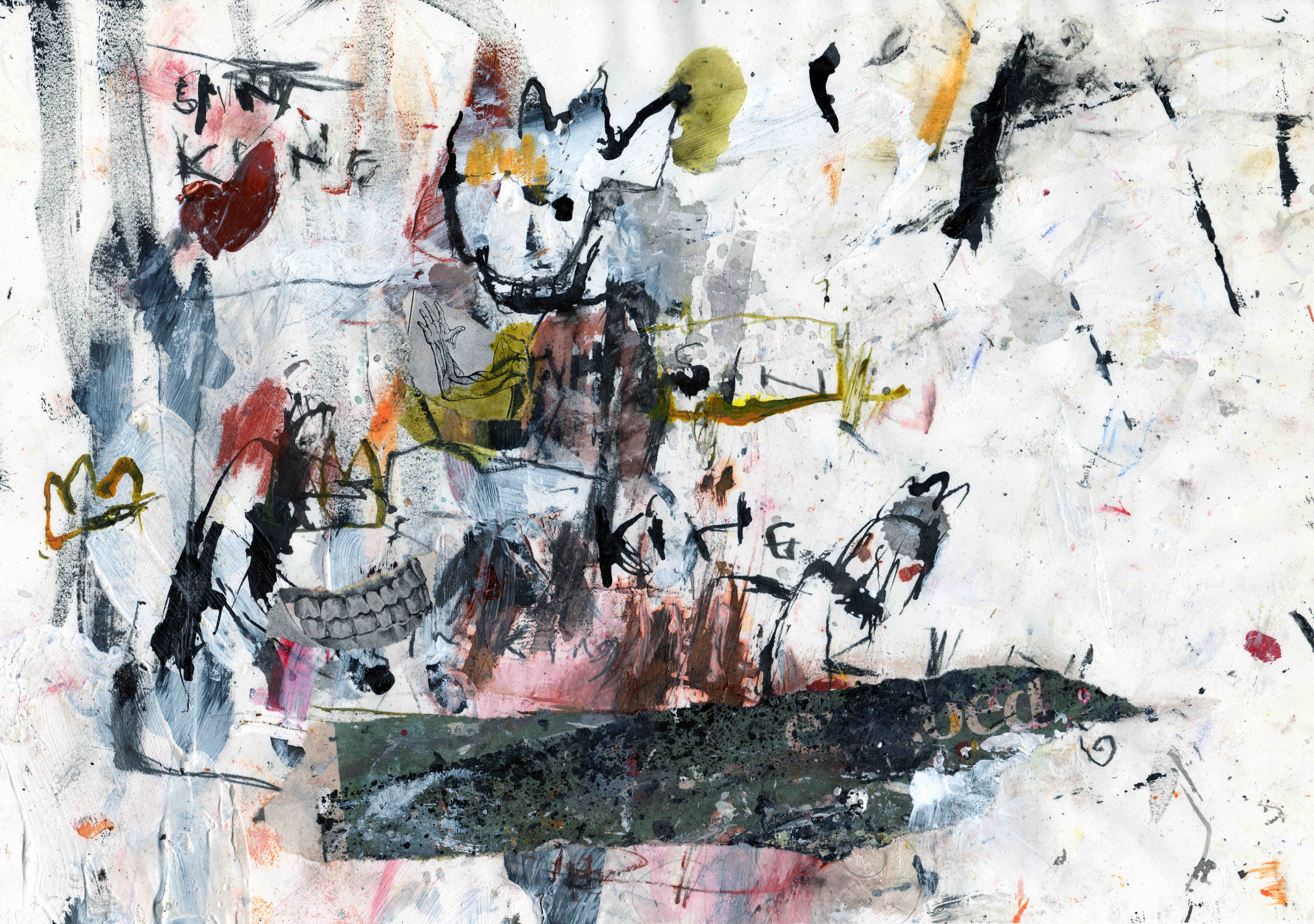 Sin King (sinking), mixed media on paper, 30,3 x 21,1 cm, 2021 MH31