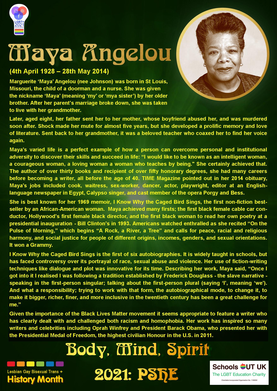 Maya Angelou Fact-Sheet