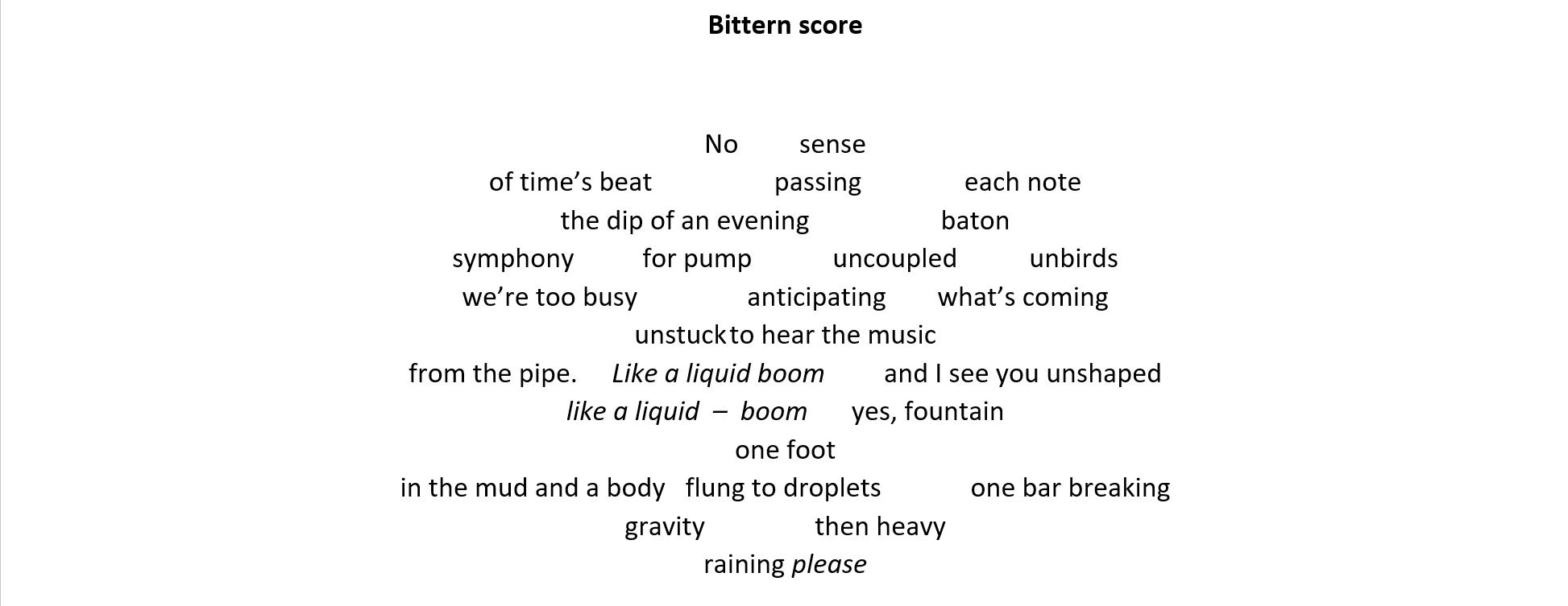 Bittern score by Ankh Spice