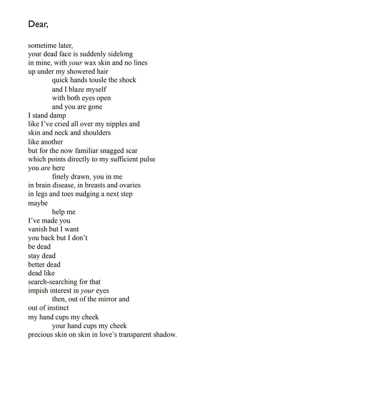 Dear by Alice Willetts