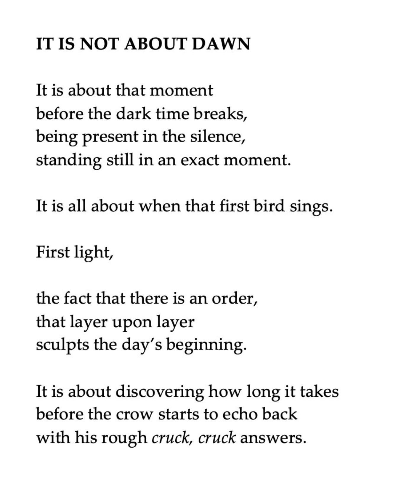 Its not aboutdawn by soo finch