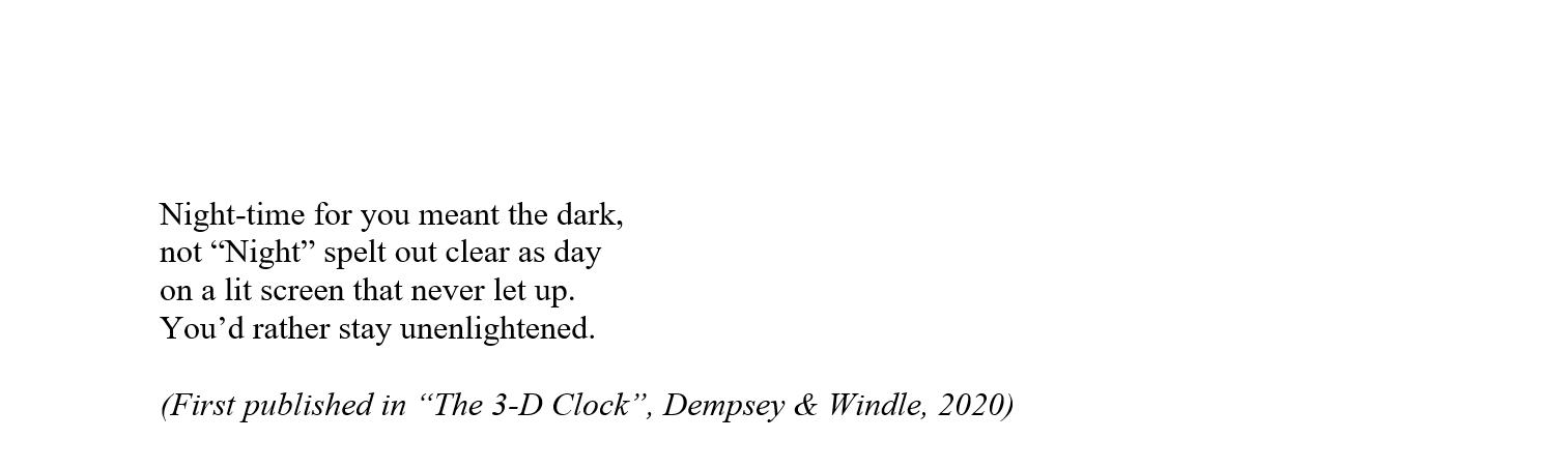 The 3-D Clock 2