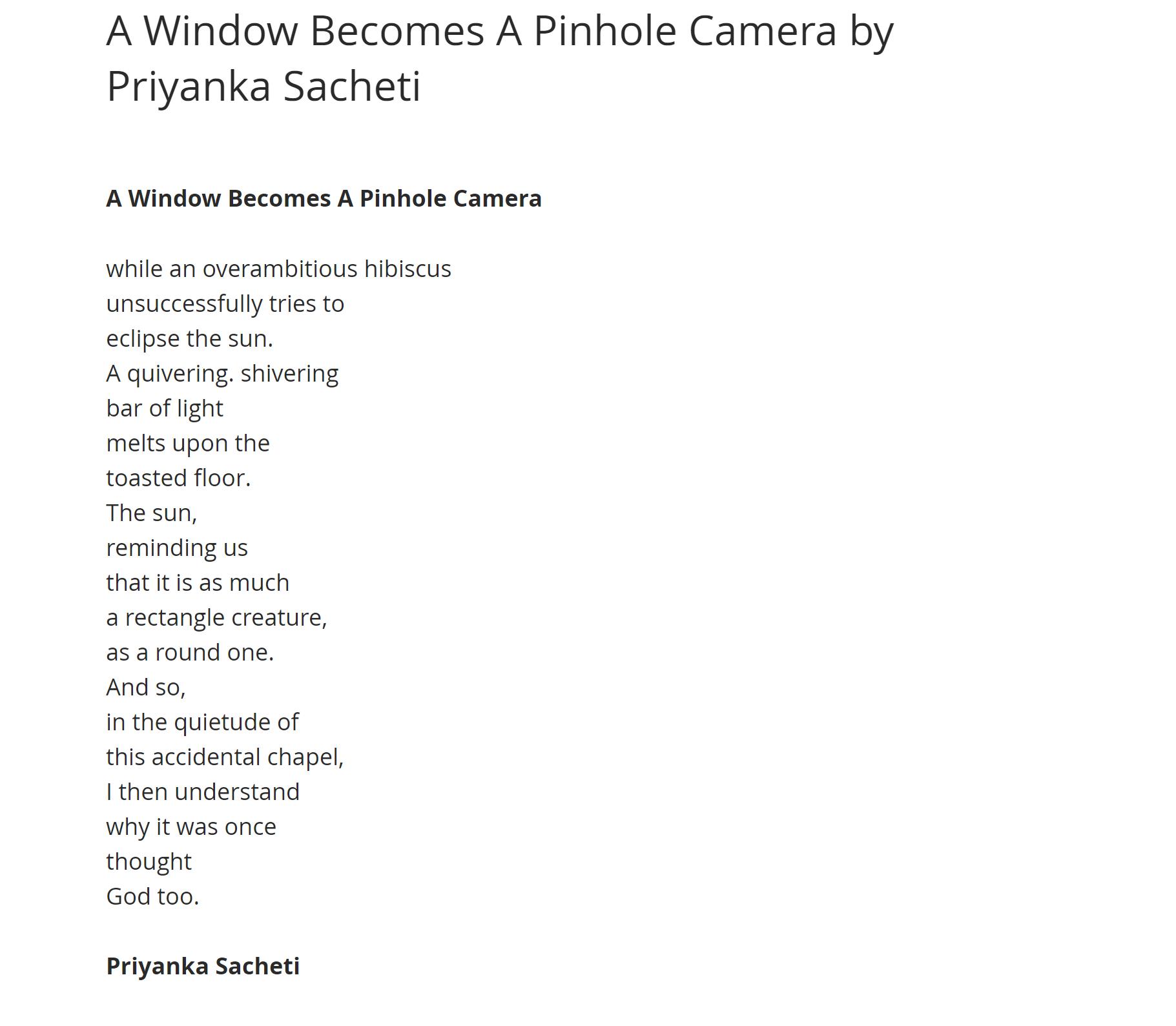 A Window by Priyanka