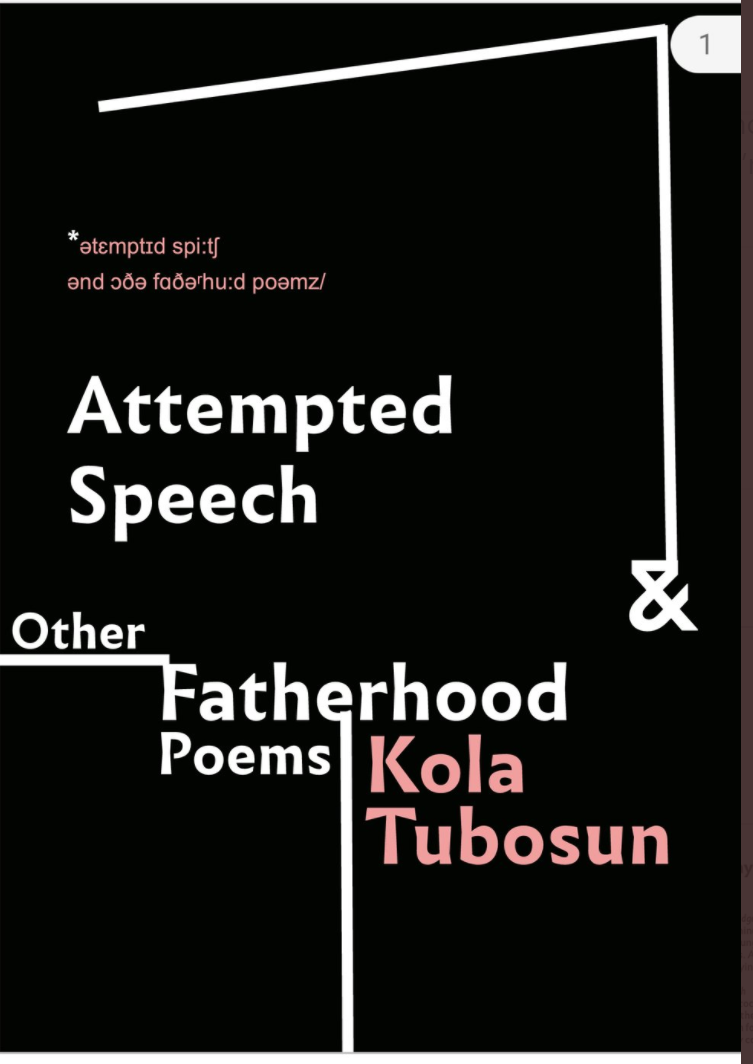 Attempted speech collection frontbcover by kola tobosun