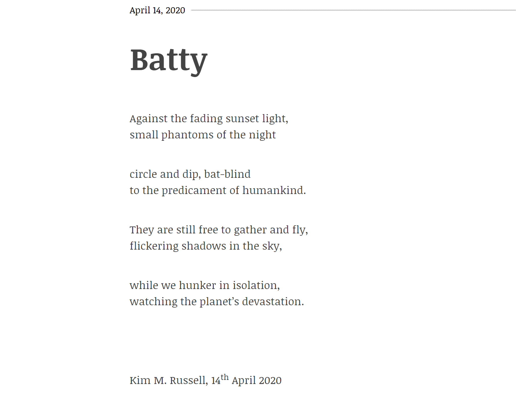 Batty by Kim Russell