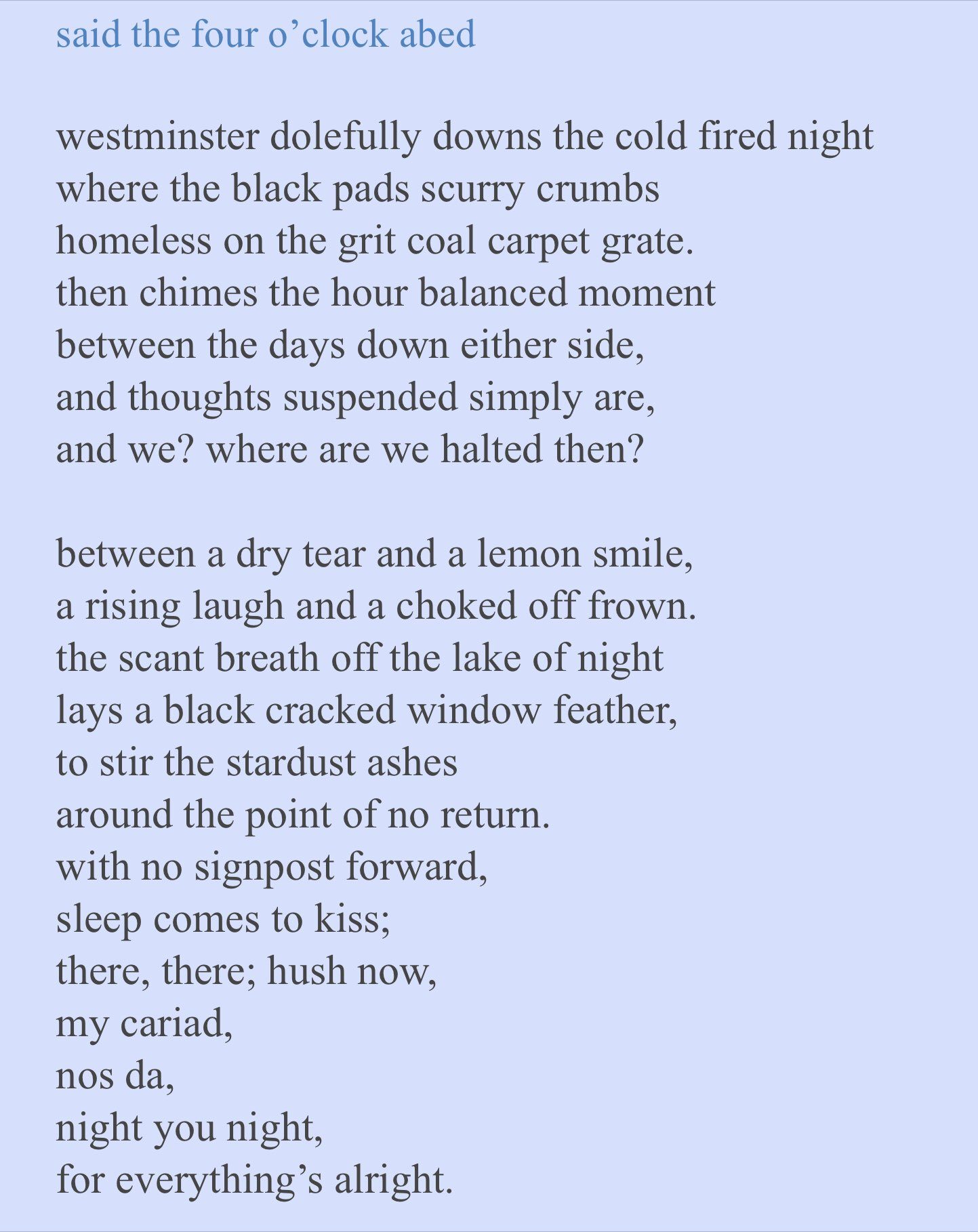 bed cockroach poem by Jim the poet