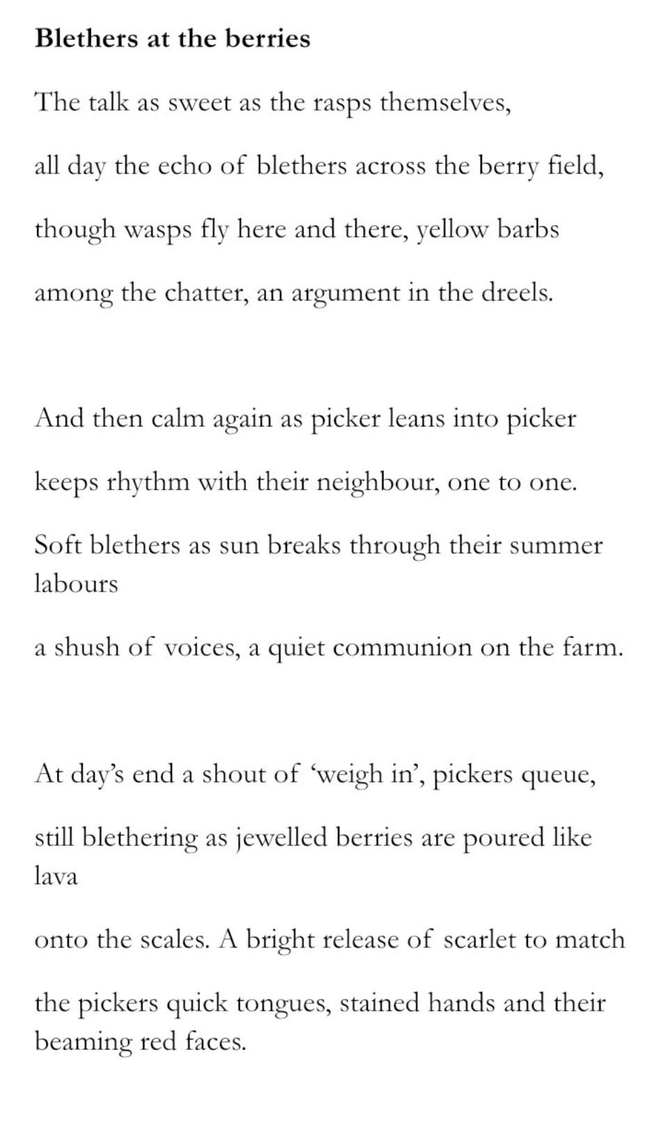 Blethers by Lynn Valentine