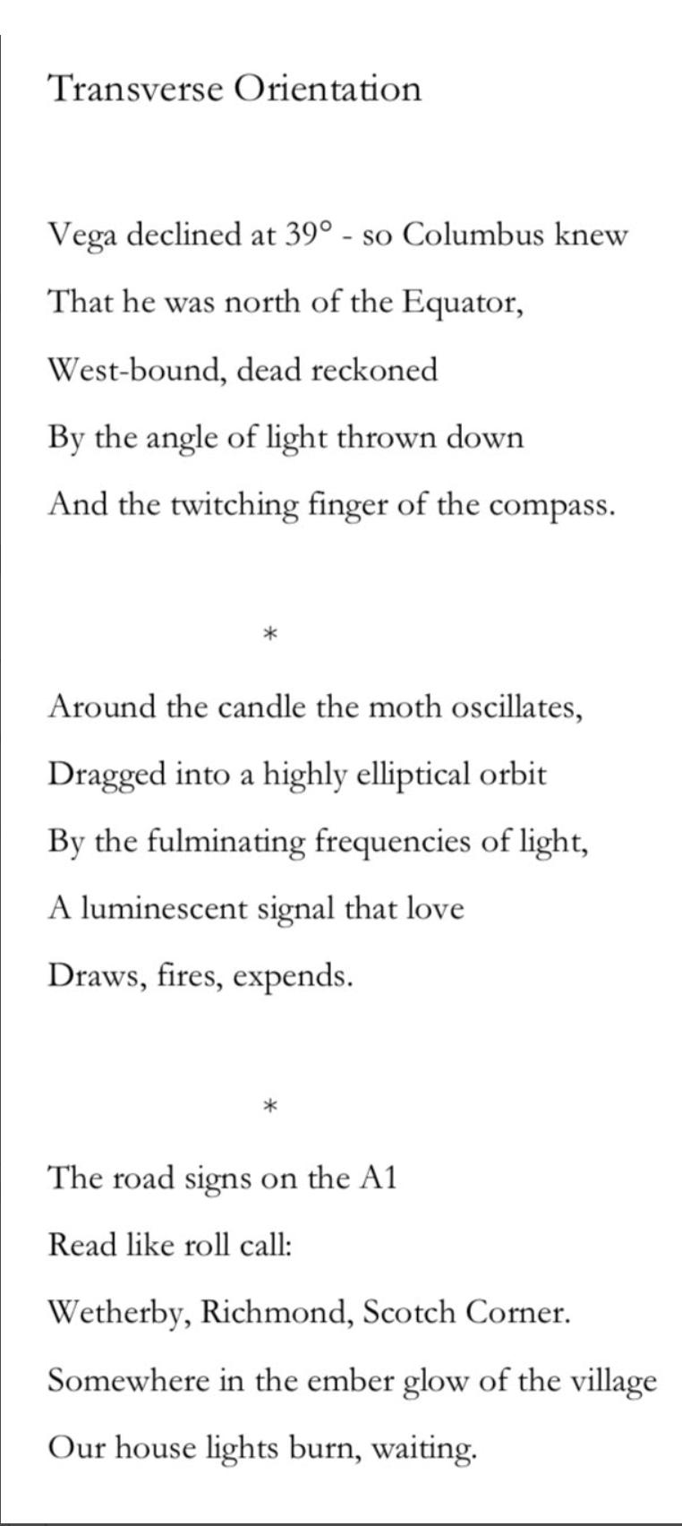 Colin Bancroft Moth poem