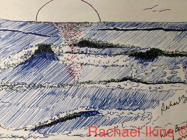 A Beach in Maine by Rachael Ikins