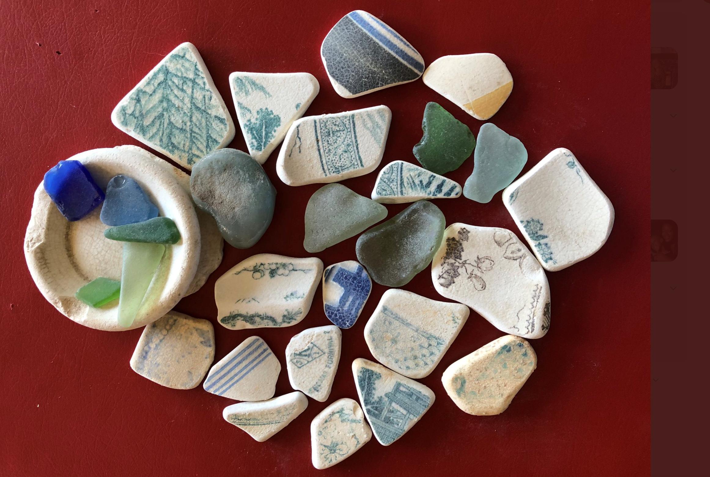 Beachcombed rocks
