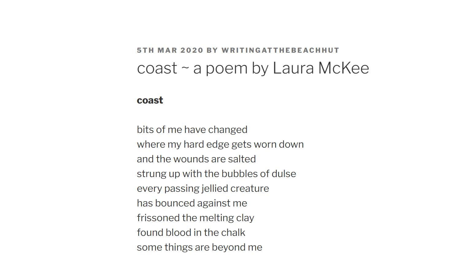 coast by laura McKee