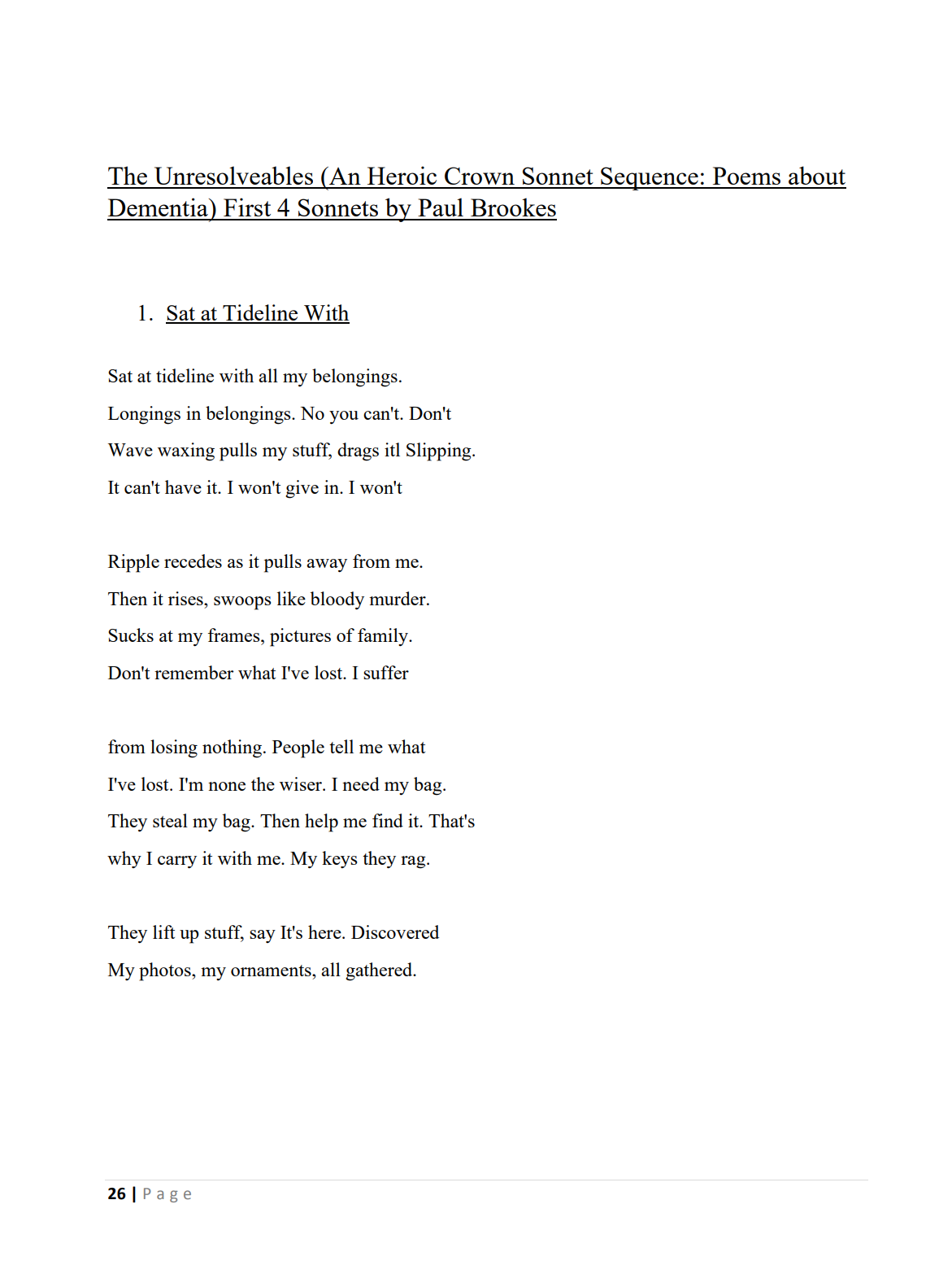 overcome sonnets 1