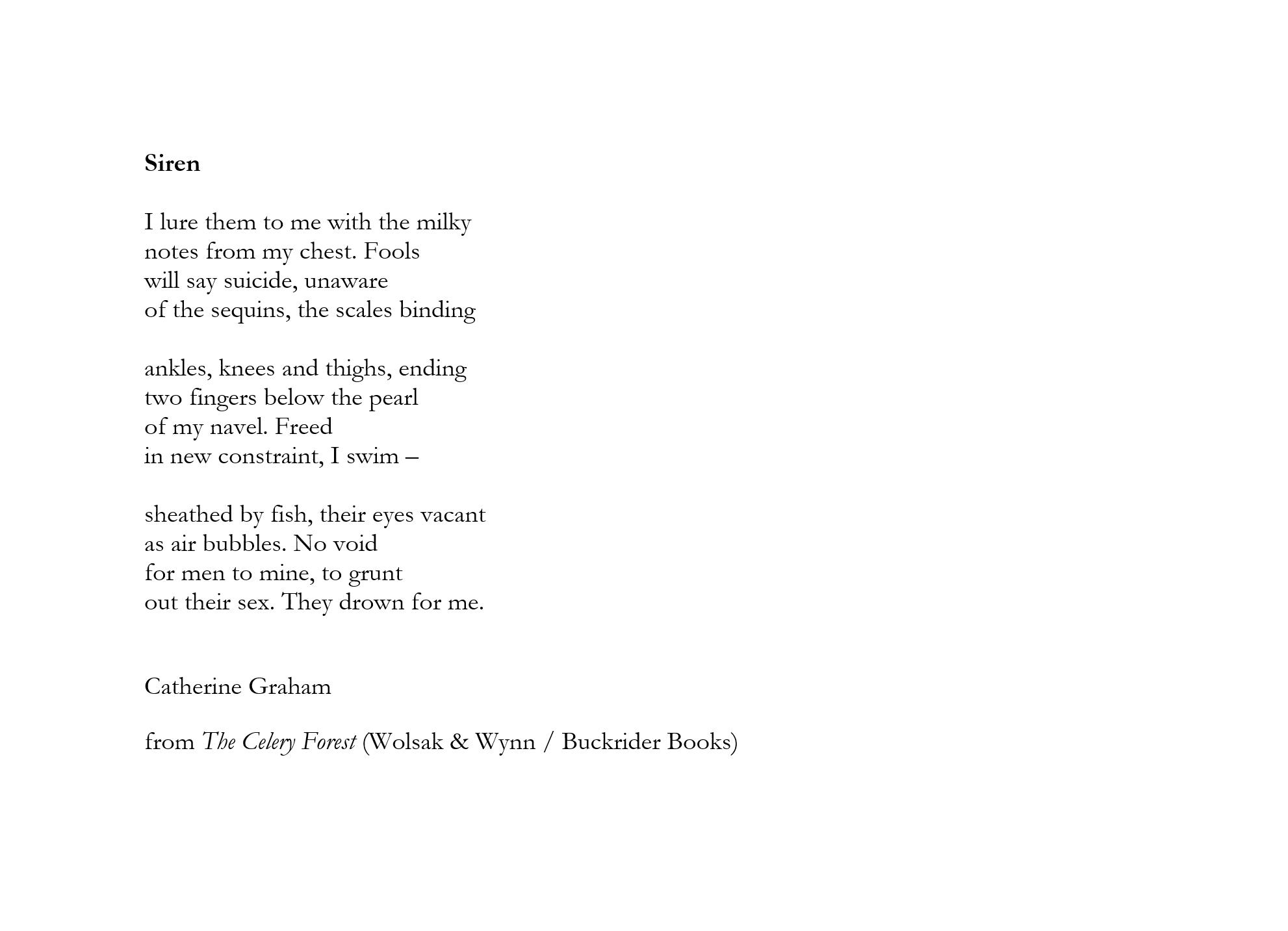 Siren by Catherine Graham
