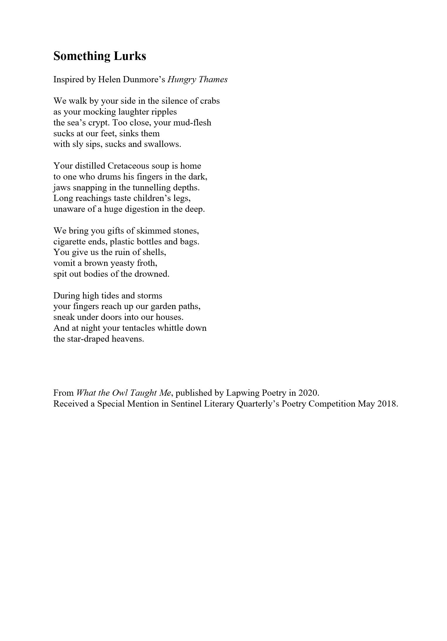 Something Lurks by Annest Gwilym
