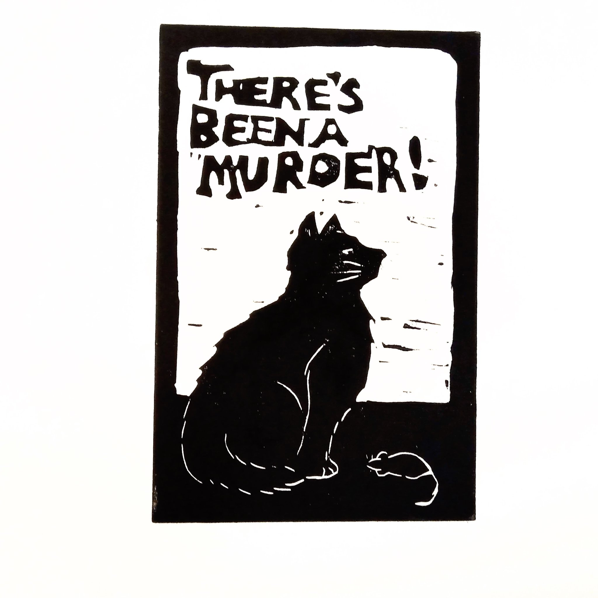 There's been a muder black cat