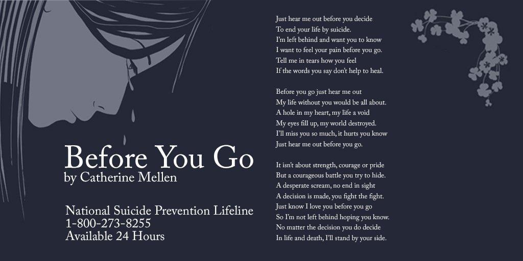 before you go cathetine mellen suicide prevention