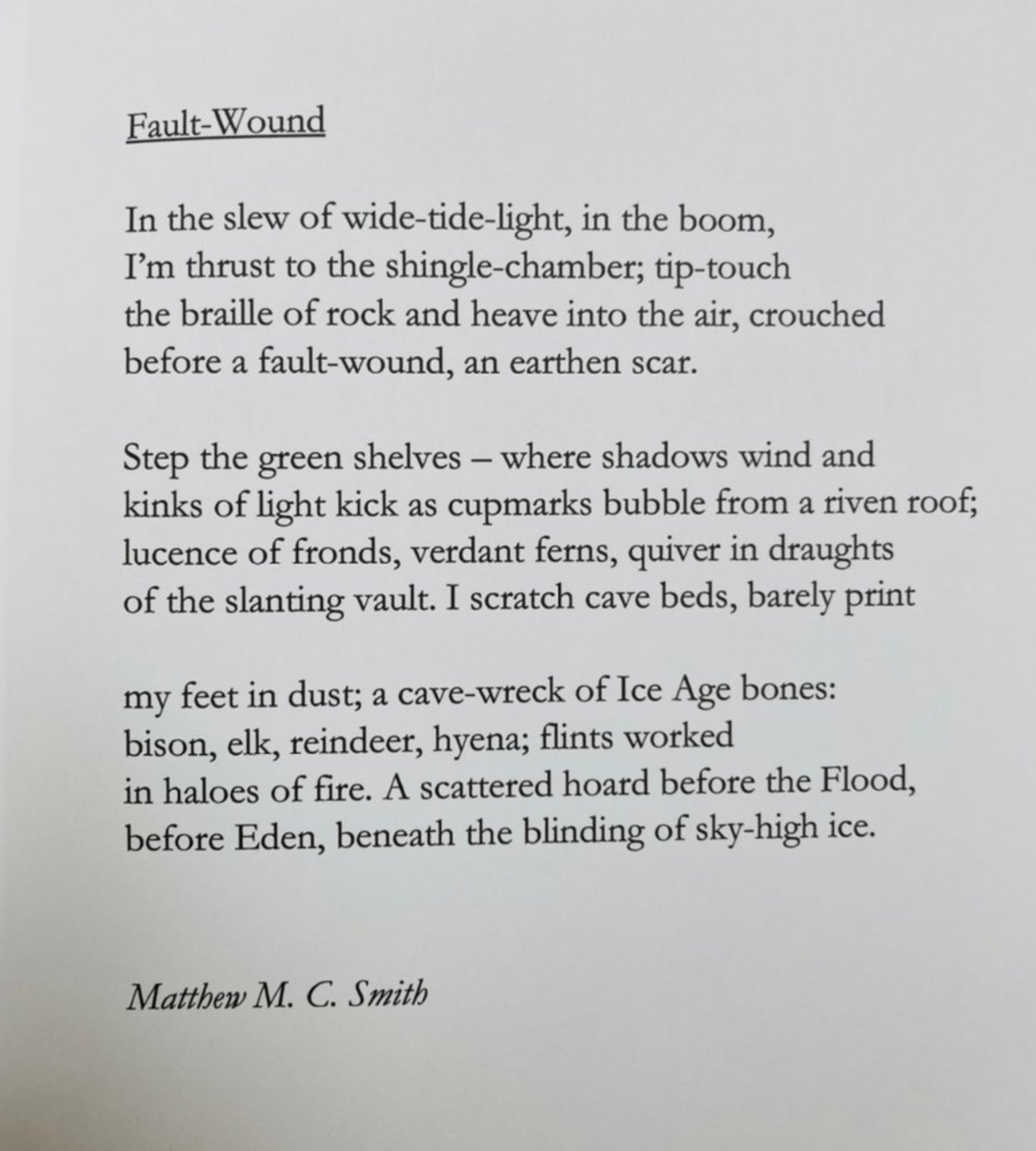 Fault Wound by Matthew MC Smith