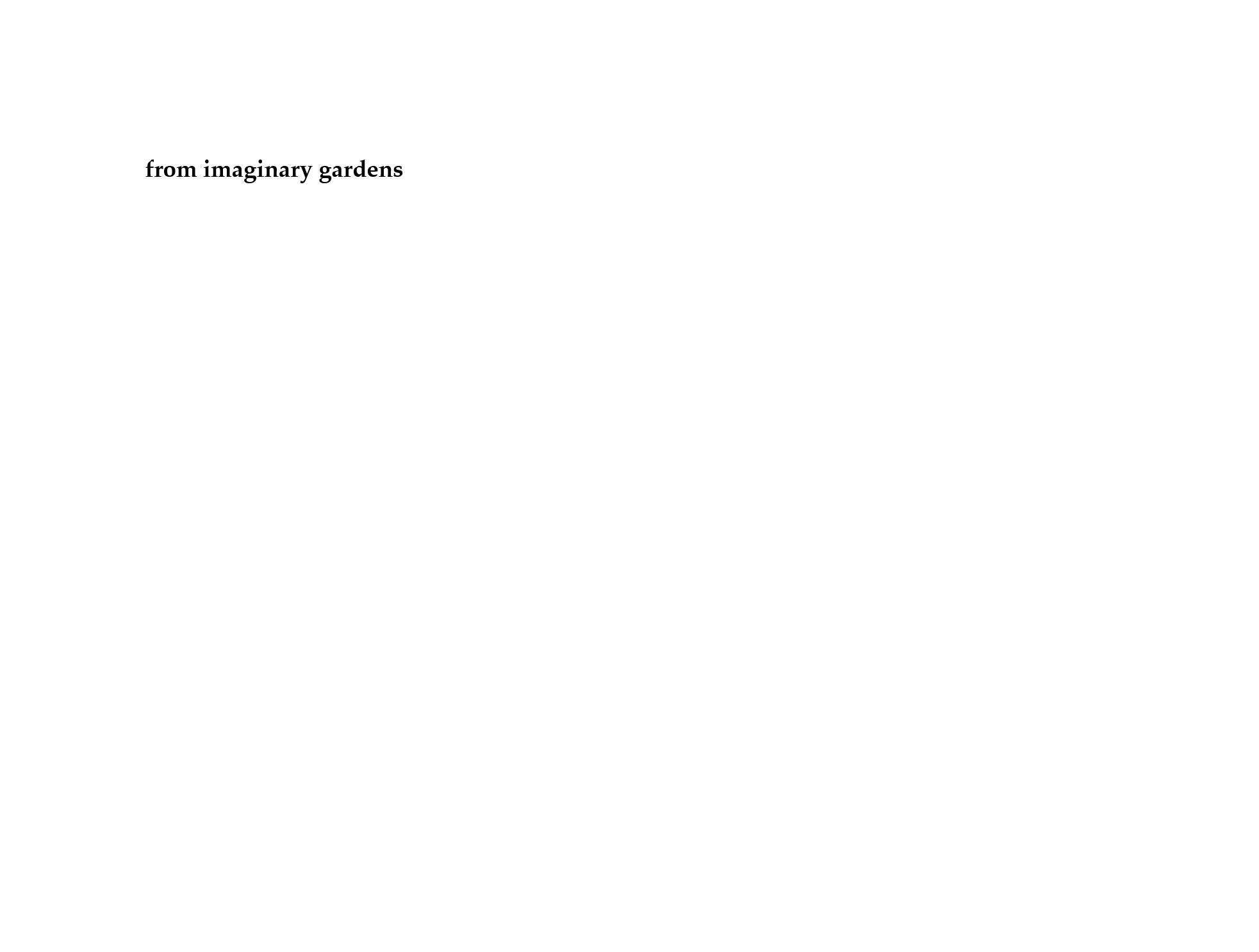 from imaginary gardens 1.1 Billy Mills