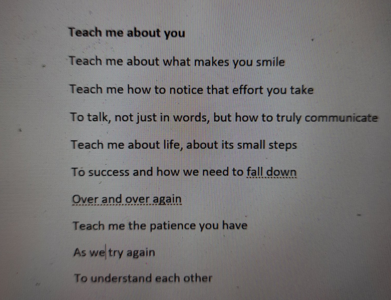 teach me about you by Brenna Farrow