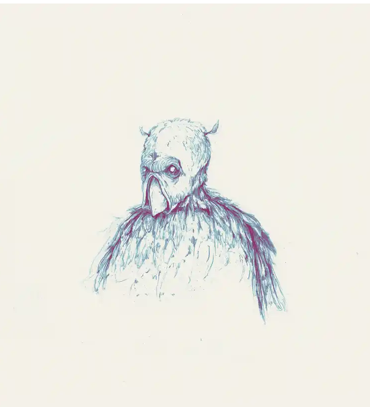 the creepy owlman by pat perry