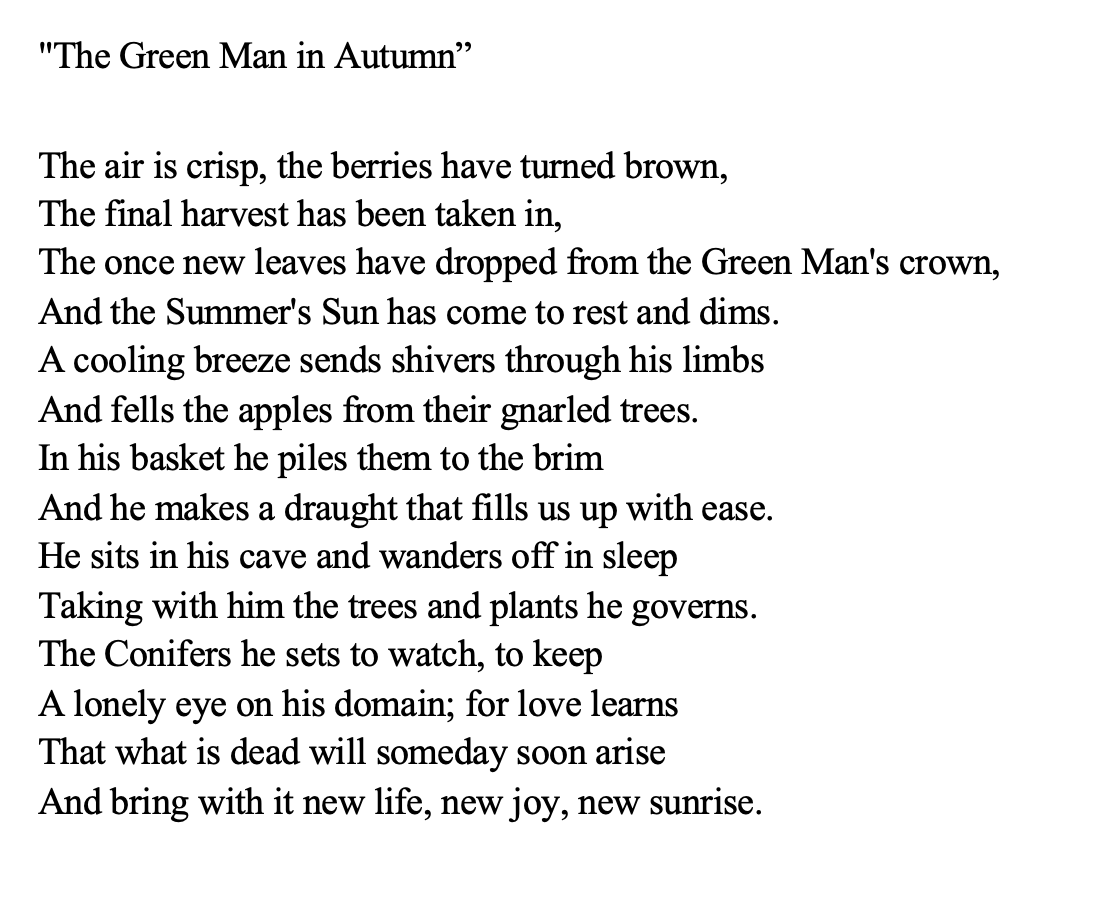 The Green Man in Autumn