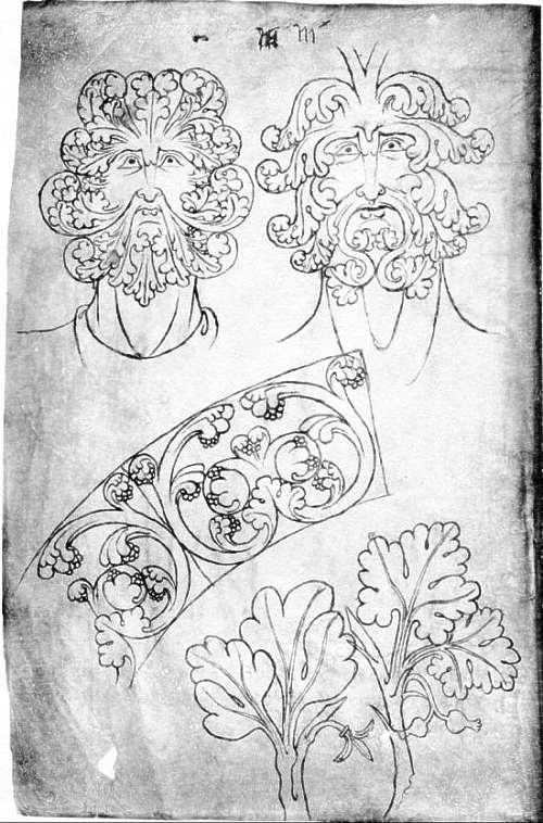 Villard de Honnecourt- Sketchbook Green Man